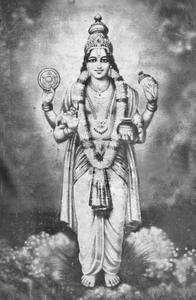 The Hindu god of ayurveda, Dhanvantari