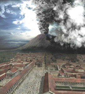The eruption of Mount Vesuvius